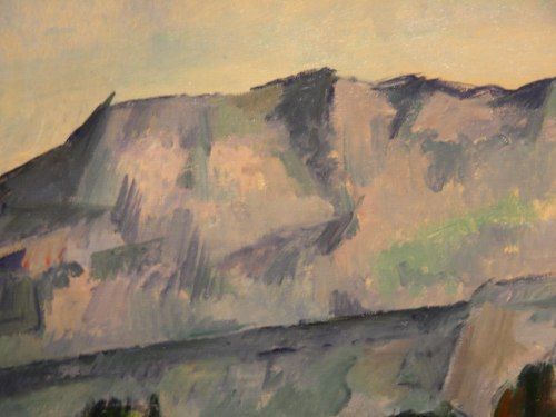 detail of the mountains in Cézanne's 'House in Provence'