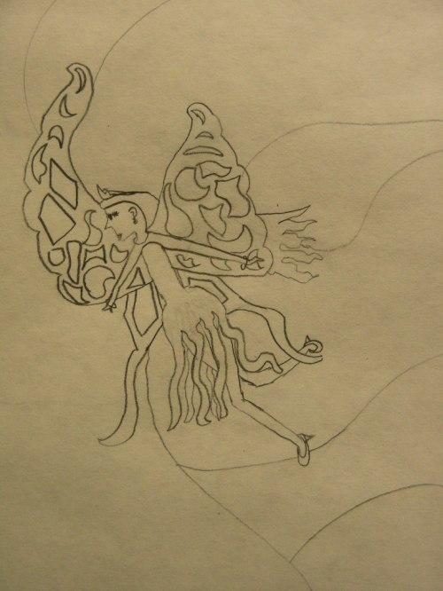 Fairy Fan Art, detail