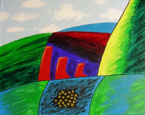 """Vaimse Maastiku, Acrylic on 11"""" x 14"""" canvas, January 7, 2012"""