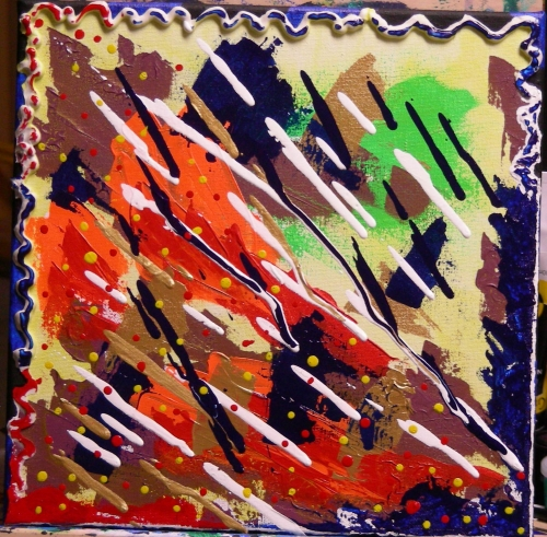 Alizarin Yuck 1, acrylic on 12x12 canvas, December 6, 2012