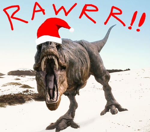 "That's ""Merry Christmas"" in Tyrannosaur..."